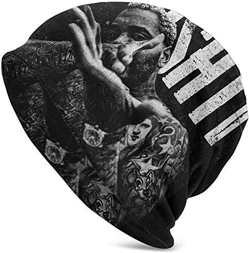 NHJMH Hut Kevin Gates Skull Caps Adult Knit Hut Casual Unisex Fashion Warm Hut Soft Comfortable Winter Black