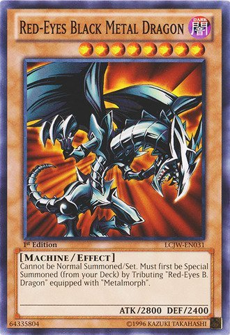 Yu-Gi-Oh! - Red-Eyes Black Metal Dragon (LCJW-EN031) - Legendary Collection 4: Joey's World - 1st Edition - Common by Yu-Gi-Oh!
