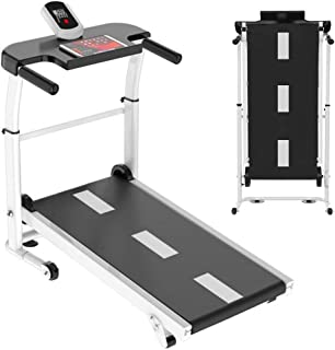 uublik Folding Silent Mini Treadmill,Mechanical Walking Machine,Portable Running Exercise Machine,Compact LED Display Treadmill for Home Gym Workout Fitness