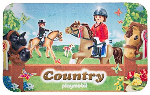 Playmobile Reiterhof - Alfombra infantil (80 x 050 cm), diseño de caballo