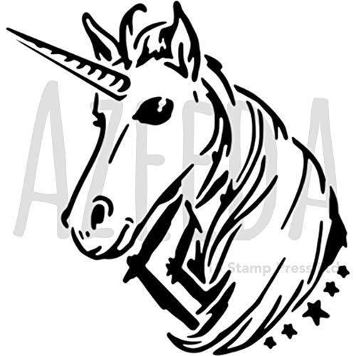 Azeeda A5 'Einhornkopf' Wandschablone / Vorlage (WS00038476)
