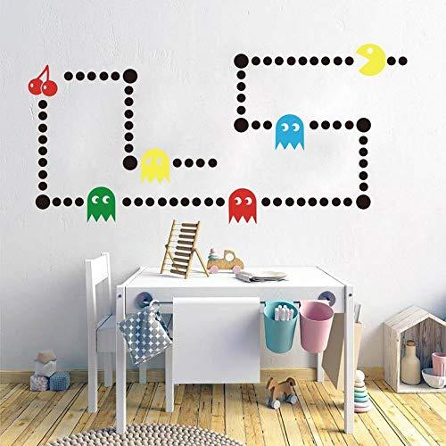 CECILIAPATER Pacman Game Wandaufkleber, Retro Gaming Xbox, Pacman Game Space Invaders Wandaufkleber, Vinyl-Aufkleber, Kunst-Dekoration, Kinderzimmer Schlafzimmer