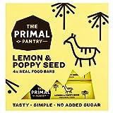 The Primal Pantry Barritas Energeticas (48 x 30g) - sin azúcar añadido, sin gluten, 100% Natural, Vegano, Paleo (Semilla De Limón Y Amapola)