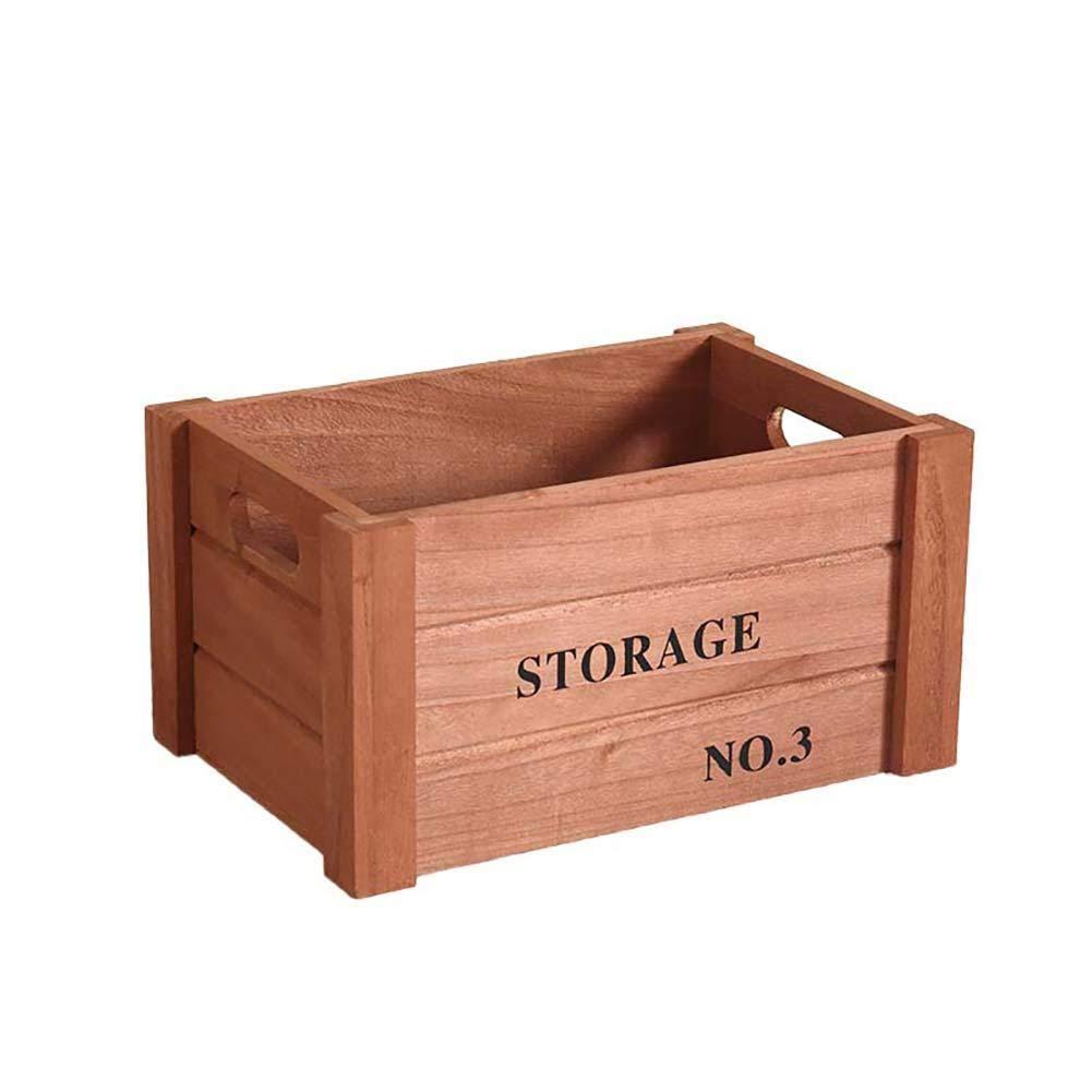 Lumanuby - Caja de madera para almacenar lápices, suministros de oficina y bolígrafos, organizador de botellas de maquillaje, 36 x 26 x 18 cm: Amazon.es: Oficina y papelería