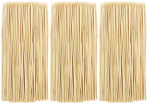 com-four® 450x Schaschlikspieße aus Bambusholz - 20 cm lange Grillspieße - Gemüsespieße im Set (0450 Stück - 20cm)