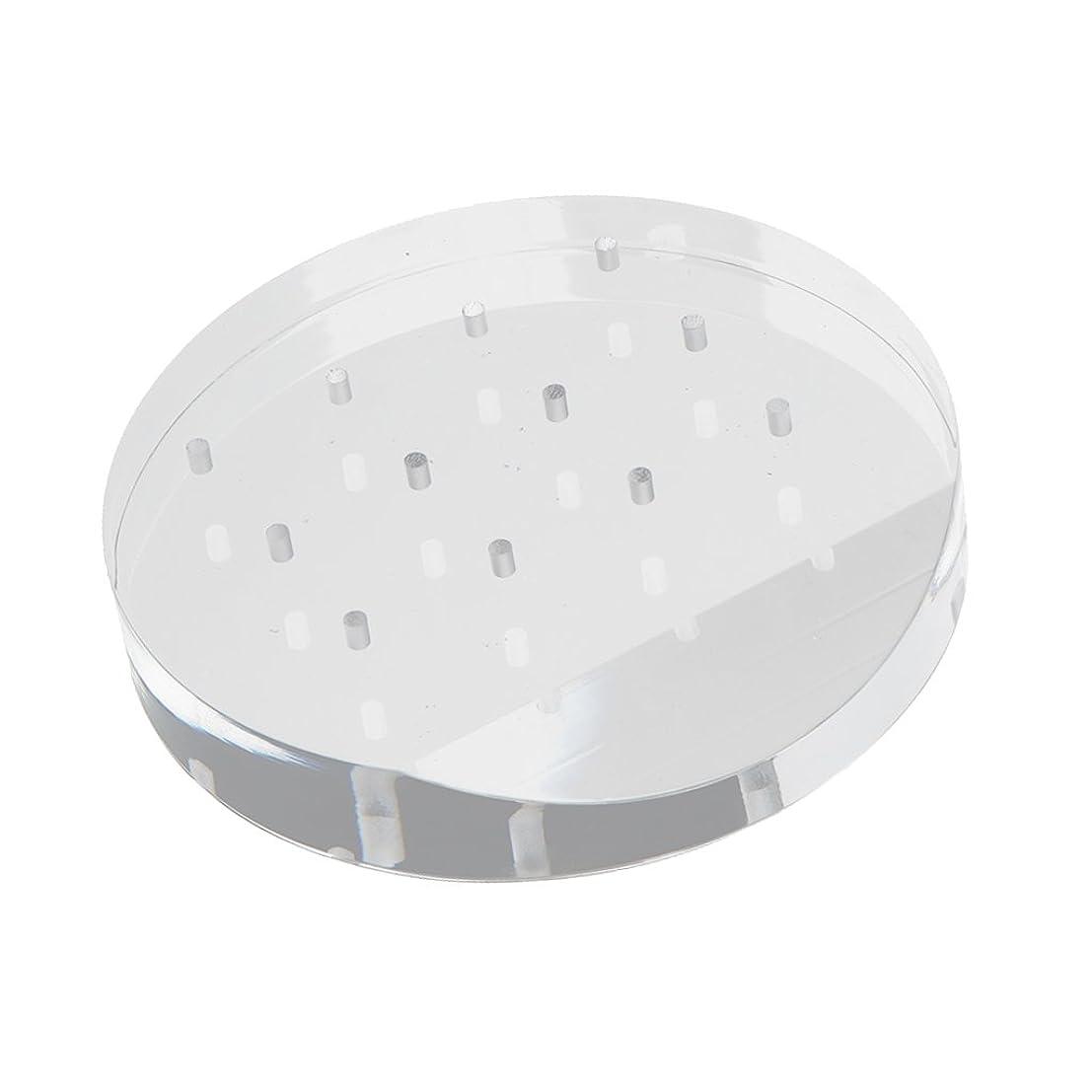 しがみつくそよ風カジュアルネイルドリルビット ホルダー スタンド アクリル 12穴 マニキュア ネイル 収納オーガナイザー 便利 高品質