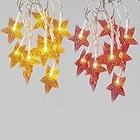 2-Pack Vanthylit Star LED Fairy String Lights