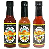 Dave's Gourmet Insanity, Ghost Pepper and Reaper Variety Hot Sauce Set, 5 Ounce Bottles (Pack of 3)
