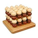 small foot 4462 Morpion en bois en 3D, jeu de stratégie à...