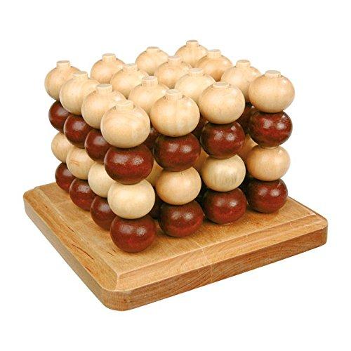 small foot 4462 Tic Tac Toe aus Holz in 3D, strategisches Brettspiel auf mehreren Ebenen für zwei Personen, ab 5 Jahren