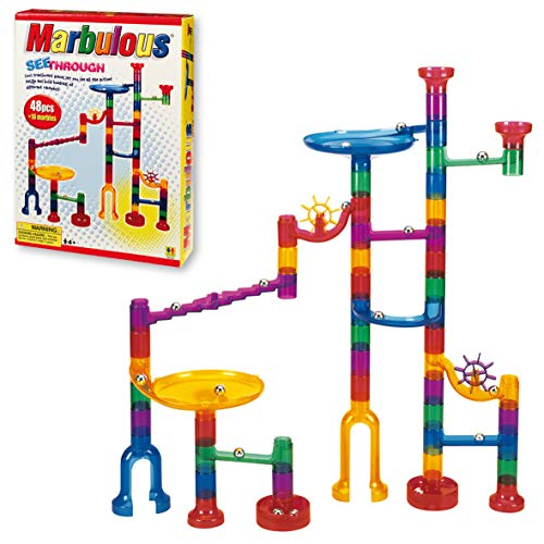 Marbulous-Translucent Marble Run (48 pieces plus 16 marbles)