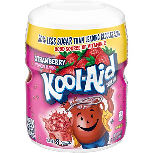 Kool-Aid Strawberry Flavored Powdered Drink Mix, 1.18 Pound (Pack of 12)