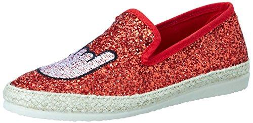 I love candies Glitter, Mocassins Femme, Rouge (Red 700), 37 EU
