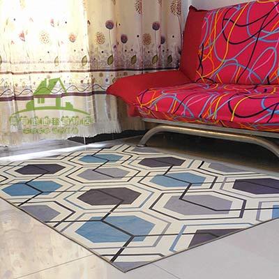 Modernes minimalistisches Haus rutschfestes 180 * 300CM Y13 Blau,Bodenschutzmatte für Heimtrainer, Crosstrainer, Rudergeräte, Laufbänder - schadstoffgeprüft & strapazierfähig, Unterlegmatten in diver