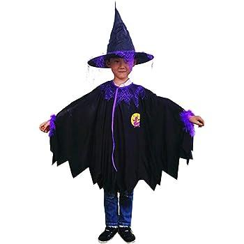 Westeng 1/Set Capa de Halloween para Niño Mago Capa con Capucha ...