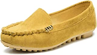 Aniywn Women's Flats Loafers Casual Soft Walking Slip-On Ballet Shoes Breathable Driving Boat Shoes