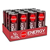 Coca-Cola Energy, Energydrink mit Koffein und Guarana mit dem unverwechselbaren Coke Geschmack mit Zucker, EINWEG Dose (12 x 250 ml)
