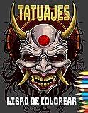 tatuajes Libro de colorear: Libro de colorear de tatuajes para adultos Relajación con hermosos diseños de tatuajes modernos como calaveras de azúcar, pistolas, rosas y más. (Spanish Edition)