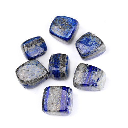 "TGS Gems 1/2lb Bulk Natural Lapis Lazuli Tumbled Stones 1/2"" to 3/4"" inch Polished Crystals for healing crystals"