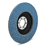 10 unidades / Discos profesionales / Azul/ Ø 115 mm / grano 80 / Inox / Discos de lija / Láminas