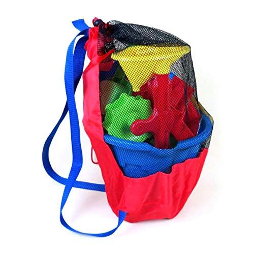 WUSHUN Mochila plegable de malla para niños, juguetes de playa, bolsa de...