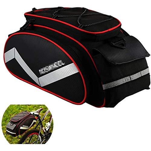 ANXIANG Bicycle Carrier Bag, Bicycle Frame 12L Bicycle Rear seat Bag MTB Road Bicycle Rack Trunk Bag Pannier Tote Bag (Color : Red)