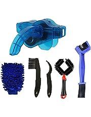 Dätenky Fietsreinigingsborstel, multifunctioneel, universeel, voor fietsketting, zwengels, banden, kettingbladen, hoeken, set van 8
