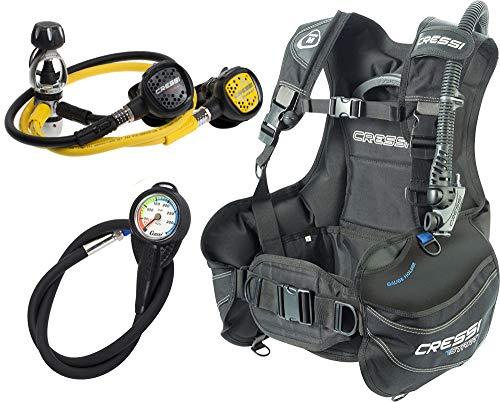 Cressi Start Scuba Set - Jacket Start + Erogatore AC2 Compact (INT/DIN) + Octopus Compact e...