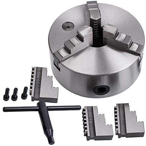 For Sale! maXpeedingrods 6 Inch 3 Jaw Lathe Chuck Self-Centering Milling Drilling K11-160 160mm for ...