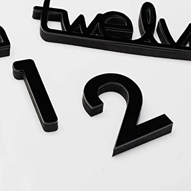 JUJUDA 3D Diy Frameless Large Wall Clocks for Living Room Decor Modern Extra Big Wall Clocks Stickers for Home Kitchen Bedroo