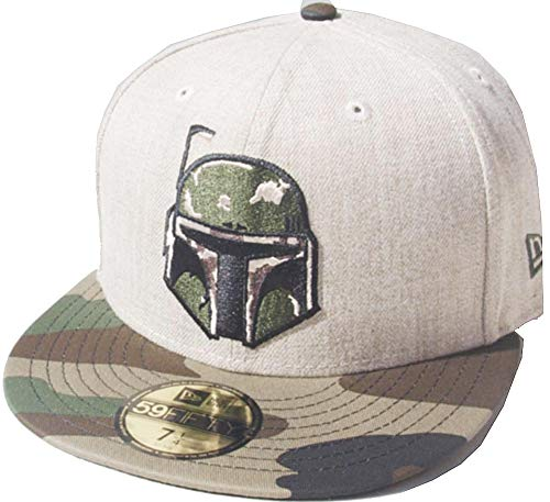 New Era Boba Fett Heather Oatmeal Camo Brim 59fifty 5950 Fitted Cap Star Wars Kappe Limited Edition
