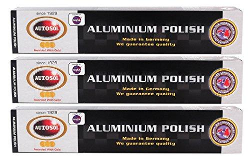 Autosol 3X Aluminium Polish Aluminiumpolitur Politur Alu Reiniger Paste 75 ml
