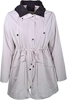 Foscako - Chaqueta Impermeable con Capucha para Mujer, Talla de la 52 a la 56, Color Beige y Beige Oscuro, cómoda