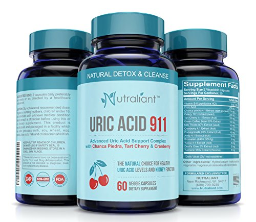 #1 Uric Acid Support Supplement - URIC 911 Advanced Cleanse w/Tart Cherry, Chanca Piedra, Celery Extract to Flush Out Uric Acid Buildup & Purge Toxins to Reduce Inflammation & Stop Painful Flareups
