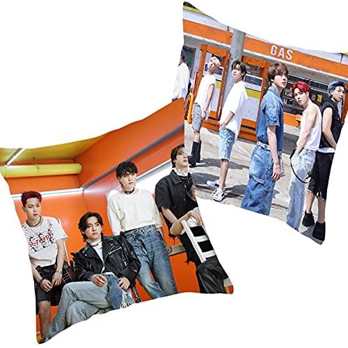Bestomrogh Funda de cojín BTS de 45 x 45 cm, de Kpop Bangtan Boys, impresión de...