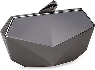 Metallic Fox Face Shaped Hard Case Clutch Evening Handbag w/Detachable Strap