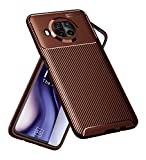 Golden Sand for Mi 10i 5G Back Phone Cover Drop Tested Shock Proof Slim Armor Aramid Carbon Fibre Rugged TPU Case for Mi 10i 5G, Pacific Brown