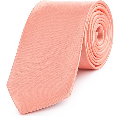 Ladeheid Herren Breite Krawatte KP-8 (150cm x 8cm, lachs)