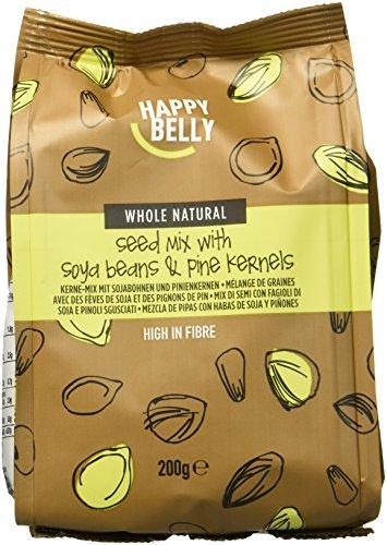 Marchio Amazon - Happy Belly Mix soia, pinoli, semi di girasole e zucca , 7 x 200 g