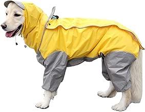 VICTORIE Mascota Perro Impermeables Chubasqueros con Capucha para pequeño Medianas y Grandes Perros Andar excursión Acampada deambular Amarillo 5XL
