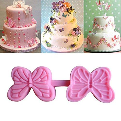 Bluelover Papillon Moule À Gâteau En Silicone En Forme De Presse Moule Chocolat Bonbons Jello En Silicone Moule Fondant Gâteau Décoration