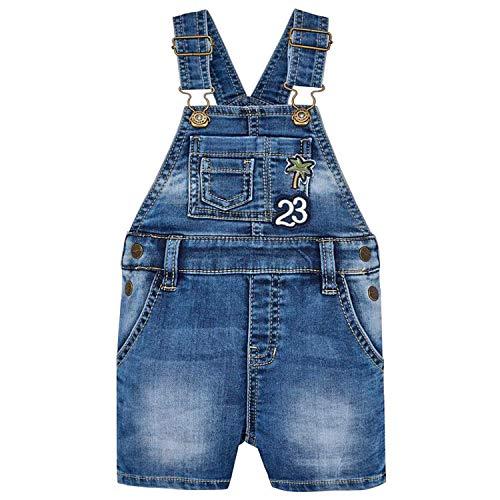 Mayoral - Jungen Kurze Latzhose mit abnehmbaren Trägern, Jeans - 1.640, Größe 92