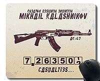 ゲーミングマウスパッドカスタム、ステッチエッジを持つ武器AK-47マウスパッド