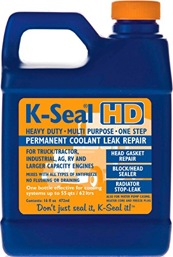K-SEAL Coolant Leak Repair ST5516 Heavy Duty 16oz, Multi-Purpose Formula for Truck/Tractor Coolant...