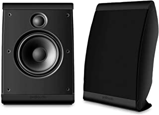Polk Audio OWM3 Wall and Bookshelf Speakers in Black | The Most High-Performance Versatile Loudspeaker | Paintable Grilles...