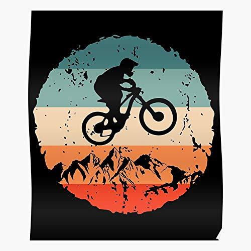Hardymedicalsupplies Biking Bike Downhill Lover MTB Fun Mountain Us Home Decor Wall Art Print Poster !