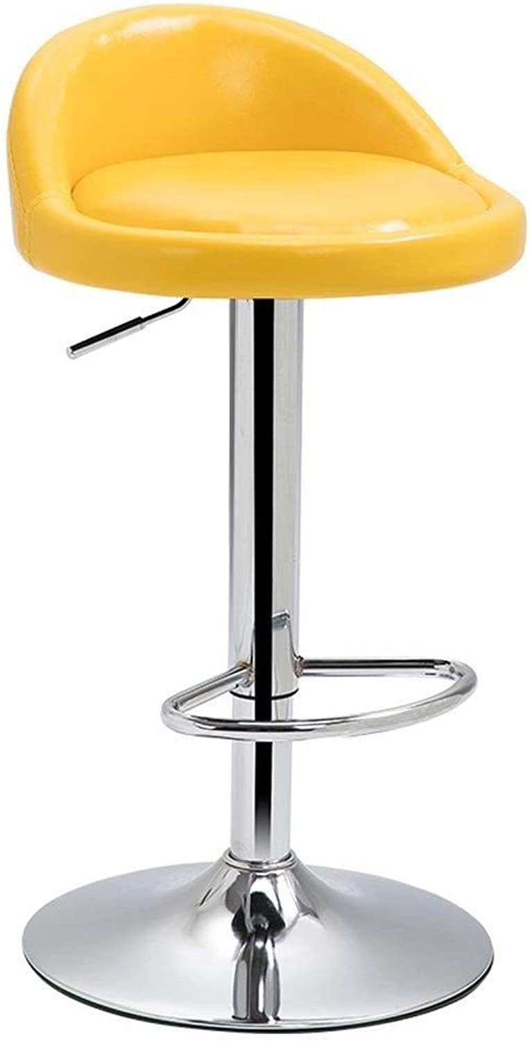 Bar Stool Height-Adjustable and redating Leather Dining Chair, Multi-color Optional (seat Height 60-80 cm) (Size   A)