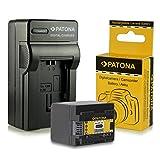Cargador + Batería BP-727 BP727 para Canon LEGRIA HF M52 | HF M56 | HF M506 | HF R36 | HF R37 | HF R38 | HF R46 | HF R47 | HF R48 | HF R306 | HF R406 - Canon VIXIA HF M50 | HF M52 | HF M500 | HF R30 | HF R32 | HF R40 | HF R42 | HF R300 | HF R400 y mucho más… [ Li-ion; 2400mAh; 3.6V ]