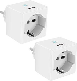 JuoYou 2020 - Presa smart Wlan Smart Home, 16 A, 3400 W, mini plug intelligente, funzionamento con Alexa, Google Home, 2 p...