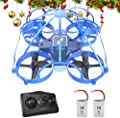 ATOYX Drones for Kids - Mini Drones for Kids , Equipped with 2.4Ghz 4CH 6-Axis Gyro, 3D Flip, 3 Speed, LED Lights,Mini Drone for Children(Blue)